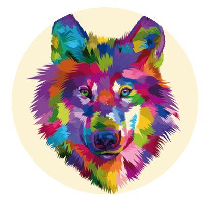Nálepka na senzor Freestyle Libre - barevný pes