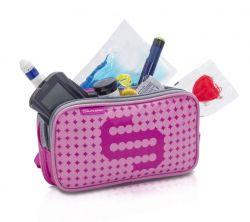 Penál na příslušenství pro diabetiky - Růžový/Šedý