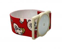 Držák pro senzor Freestyle Libre | Bílá guma, Černá guma, Červená/černá guma, Červená/slon guma, Fialové kytky guma, Modré kytky guma, Růžové kytky guma