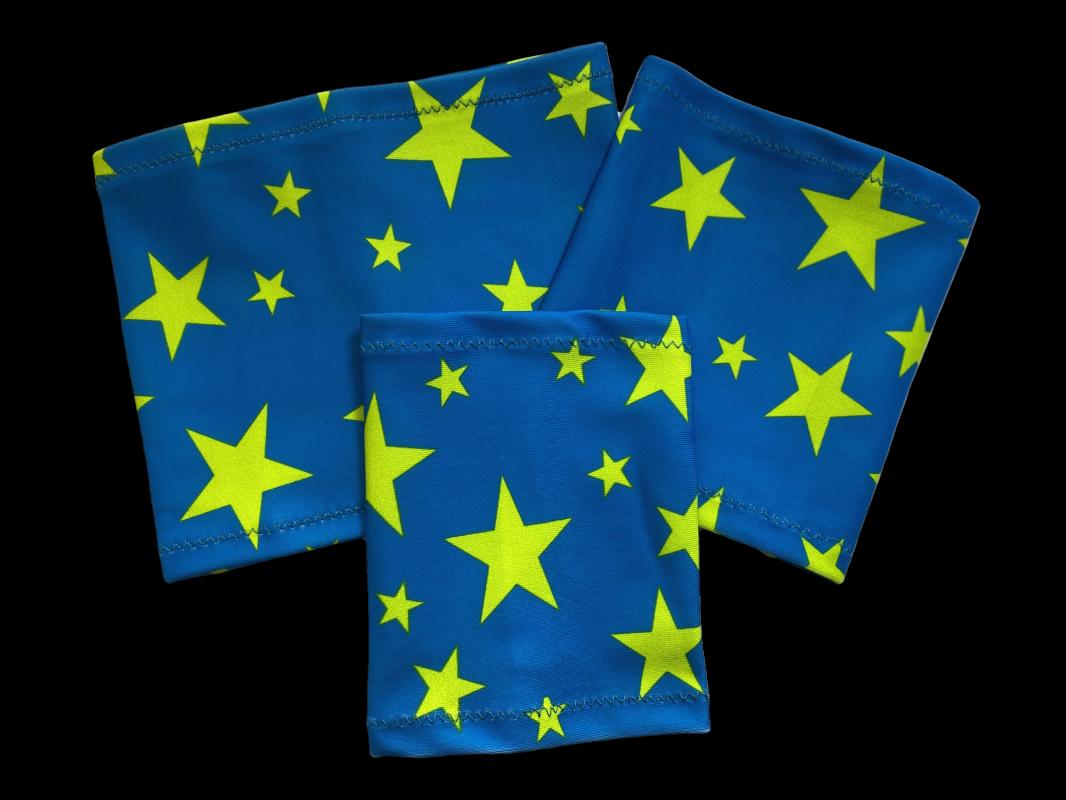Elastický návlek na ruku - Hvězda - modré pozadí