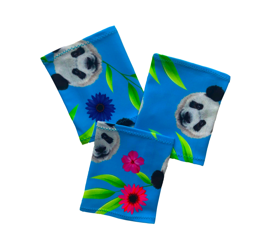 Elastický návlek na ruku - Panda modré pozadí