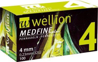 Wellion Inzulínové jehly MedFine délka 4mm Medrust