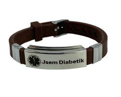 Zapínací náramek Jsem diabetik